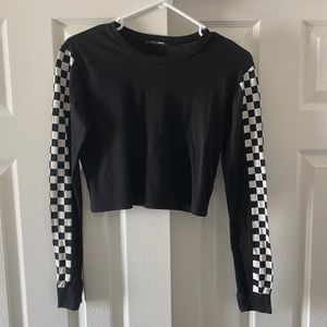 Tops - Checkered long sleeve top
